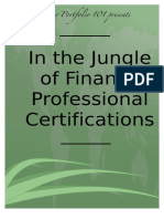 In the Jungle of Financial Professional Certificates