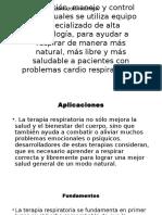 Pesentación en PowerpointTerapias respiratorias