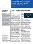 Policy Brief - Child Labor in Afghanistan