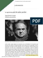 2016-10-01 El Aprendizaje de Saber Perder Jorge Aleman