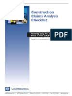 Long Intl Construction Claims Analysis Checklist