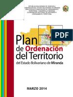 Plan de Ordenamiento Del Territorio Del Edo Bolivariano de Miranda