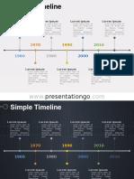 Simple Timeline Diagram PGo