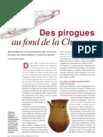 Des pirogues au fond de la Charente