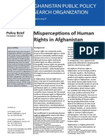 Policy Brief - Misperceptions of Human Rights in Afghanistan