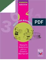 Unidades Didácticas para la Escuela Multigrado. Educación Matemática, 4º Básico.