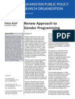 Policy Brief - Renew Approach to Gender Programming