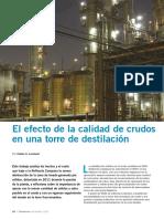 EL EFECTO DE LA CALIDAD DE CRUDOS EN UNA TORRE DE DESTILACION.pdf
