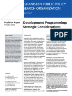 Position Paper - Development Aid Programming in Afghanistan