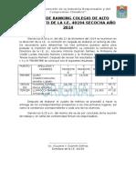Acta de Ranking Colegio de Alto Rendimiento de La i
