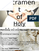 Sacrament of Holy Matrimony