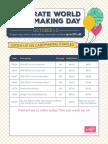 World Card Making Day Essentials Flyer