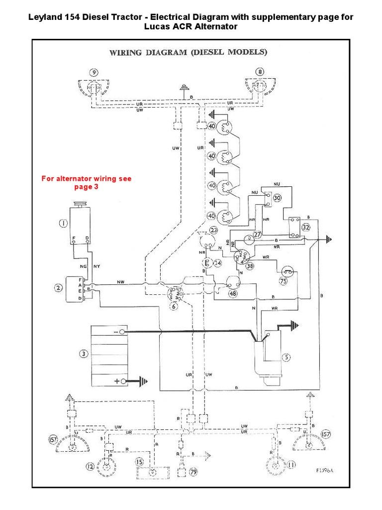 [DIAGRAM_38IS]  Wiring Diagram Leyland Diesel 154 -With Supplimentary Alternator Diagram | Alternator Wiring Diagram Diesel |  | Scribd