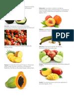 Frutas y Verduras de Guatemala