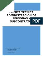 Oferta Tecnica administracio