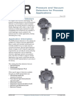 SOR Pressure and Vacuum Detectors Catalogue