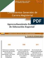 Aprovechamiento Escolar de la Educación Especial Inclusiva