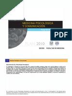 Plan de Estudios Psicologia Medica y Comunicacion FACMED UNAM