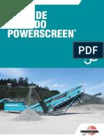 Powerscreen Cribado 2016 - Español