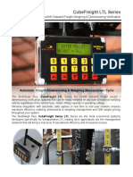 Forklift onboard freight weight & dimensioning systems,  CubeFreight LTL 2P V2