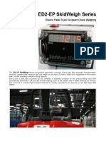 Electric pallet check weighing scales, ED2-EP 2PD V2