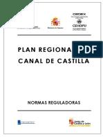 Plan Regional Canal Castilla Normas Reguladoras