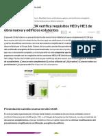Complemento CE3X Verifica Requisitos HE0 y HE1 de Obra Nueva y Edificios Existentes