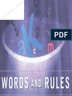 Pinker Steven Words and Rules the Ingredients of Language 1999