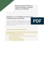 Windows 10 y La Pantalla de Color Negro