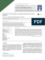 Ensayo de Compresión de la mampostería Muestras de núcleos extraídos de ladrillo existente.pdf