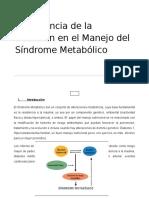 Importancia de La Nutrición en El Manejo Del Síndrome Metabólico