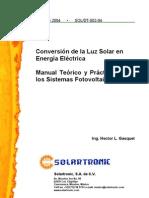 Conversion de La Energia Solar en Electricidad