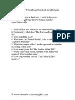 Worksheet for 5 Terrifying Unsolved Serial Murder