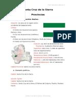 Santa Cruz y Sus Provincias