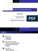 Derby TimeSeriesForecasting Nov2009