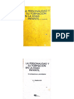 La Personalidad y Su Formacion en La Idad Infantil - Bojovich