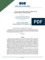 Llibre v Codi Civil Catalunya
