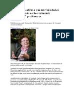 Especialista Afirma Que Universidades Brasileiras Não Estão Realmente