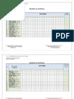 Registro de Asistencia Imprimir