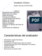 Laboratorio Clínico ( Autoanalizador Químico HITACHI 902 )
