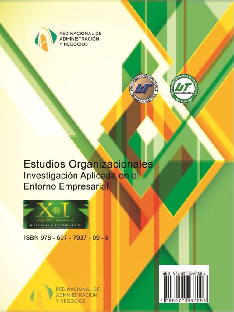 9685243842b92 Memoria Estudios Organizacionales