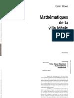 p660 Mathematiques Villa Ideale Rowe Extraits