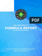 The Prosperity Formula Report