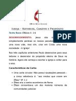 Sermão - Igreja - Natureza, Caráter e Propósito.docx