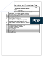 Hotel Marketing and Advertisement Plan Template