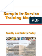 Hospital Sample in-service Training Module