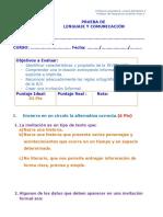 PRUEBA USO DE LA B y V3°