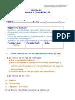 prueba novela 4°
