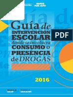 Guia de Intervencion Escolar Donde Se Involucra El Consumo de Drogas