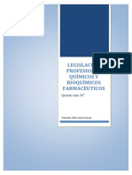 Ley Del Bioquimico Farmaceutico 2016